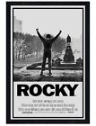 Rocky Black Wooden Framed Movie Score Maxi Poster 61x91.5cm