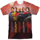 Star Trek Captains Licensed All Over Sublimation Poly Adult Shirt S-3XL