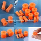Pick Gauge 6g-1/2 Star Orange Flexible Silicone Flared Ear Tunnel Plug Stretcher
