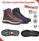 FREE $2.99 SOCKS Kingshow Men's Winter Snow Boots Shoes Leather Waterproof 0705