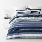 Alex Ocean Striped Indigo Blue   Quilt / Doona Cover Set  NEW 30 - 40% off RRP