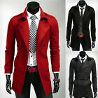 Fashion Menswear 2015 Long Trench Coat Winter Jacket Parka Wed Mens Dress Tops