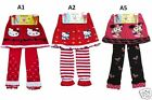 NEW BABY GIRL SKIRT LEGGING WINTER WARM KNITTING COTTON PANTS ANIMATION 1T to 5T