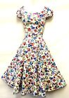 New Vtg WWII 1940's Land Girl, Home Front English Garden Ditsy Floral Tea Dress