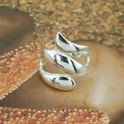 THREE LEAFS RING NO STONE  STERLING SILVER  SOLID.925 /NEW JEWELLERY  SIZE J - U