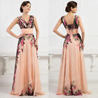 Elegant Mixed Flower Printed Party Cocktail Evening Homecoming Prom Pleats Dress