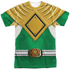 Power Rangers Green Ranger Costume Licesned Sublimation Poly Adult Shirt S-3XL