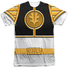 Power Rangers White Ranger Costume All Over Sublimation Poly Adult Shirt S-3XL