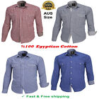 Men's High Quality  Egyptian Cotton Casual Dress Plaid Shirts M-XXL, AUS Size
