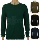 New Mens UK High Street Crew Neck Lambswool Knit Smart Casual Long Sleeve Jumper