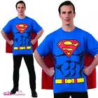 "SUPERMAN LICENSED MENS SUPERHERO T-SHIRT SET STAG NIGHT SIZES CHEST 40"" - 48"""