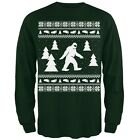 Sasquatch Ugly Christmas Sweater Green Long Sleeve T-Shirt Top