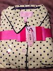 BNWT Victorias Secret The Dreamer Two Piece Pajama Yellow Polka Dot S-M-L