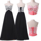 Applique 20s 50s Vintage Evening Formal Party Ball Gown Prom Bridesmaid Dresses