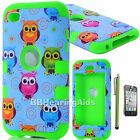 Shockproof Hybrid Impact Hard & Soft Case Cover For iPod Touch 4th 5th Gen