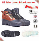 FREE SOCKS GIVEAWAY Kingshow Mens Winter Shoes Snow Boots Leather Waterproof1280