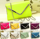 Newly Womens Envelope Satchel Chain Handbag Crossbody Bags Synthetic Leather