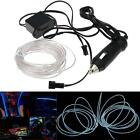 Flexible Neon Light Glow 3M EL Wire Rope Decor Light + DC 12V Car Charger Drive