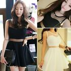 Korean Womens Clubwear Party Evening Cocktail Casual Vest Tank Mini Dress TTPK
