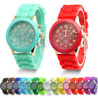 Women Men Couple Stainless Steal Case Quartz Wrist Watch Geneva WristWatch New