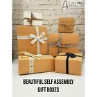 Gift Boxes Flat Pack Box for Gifts Jewellery/Soap Empty Gift Box Cartons UK!