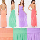 Charming Women Summer Sexy Backless Spaghetti Strap Prom Gown Long Maxi Dress