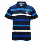 Chelsea FC Official Football Gift Mens Striped Polo Shirt (RRP £29.99!)