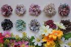 "Handmade x10  DIY 2"" Mini Flowers Craft Embellishment for Headband Clip Clothes"