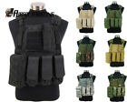 7Color Camouflage Tactical Military Molle Combat Assault Plate Carrier Vest TAN