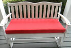 """INDOOR OUTDOOR SWING BENCH CUSHION 45""""x17 1/2"""" 11 SOLID COLORS"""