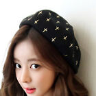 Fashion Embroidered cross Elegant Lady Girl's painter Beret Beanie Cap YH0008