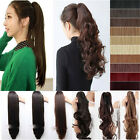 US Super Thick Long Claw/Jaw Ponytail Clip In hair extensions 3-5 Days Arrive