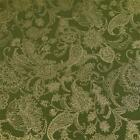 Gorgeous Metallic Gold on Olive Green Jacobean Floral, Cotton Fabric by Kaufman