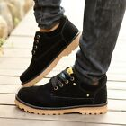 Men's Suede Leather Flats Lace Up High Top Military Comfy Shoes Ankle Boots Hot