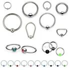 BCR CBR Ball Closure Ring - Lip Nipple Tragus Ear Nose PA Septum - Gem Captive