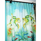 Coastal Beach Decor Shower Curtain-Sea Turtle, Crab, Fish, Shells or Seahorse