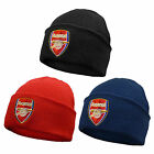 Arsenal FC Official Football Gift Knitted Bronx Beanie Hat Crest (RRP £9.99!)