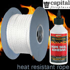 Stove Rope with Glue Capital Wood Burning Stoves Door Seal 3,6,8,10,12,15,25mm