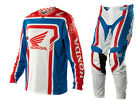 NEW 2014 TROY LEE DESIGNS TLD GP AIR HONDA MX GEAR COMBO BLUE / RED ALL SIZES