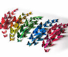 12Pc 3D Papillons Decal PVC Wall Sticker Art Design Home Décoration chambre DIY
