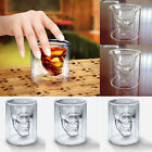Crystal Skull Head Vodka Shot Whiskey Wine Beer Tea Double Glass Drinking Cup