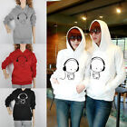 Mens Womens Couple Sweet Lovers Lovely Sweater Hoodie Coat Jacket Sweatshirt ZZ