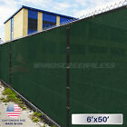 6'x50' Privacy Wind Screen Mesh Fence Cover Fabric Yard Garden Black/green/beige