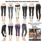 NEW Body Language Womens XXS-L Yoga Pants Capri Stretch Workout Leggings Msrp$82