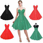 Maggie Tang 50s Polka Dot VTG Retro Pinup Rockabilly Cos Party Swing Dress R-525