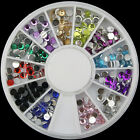 New Sail Nail Art Acrylic Glitters Tips Decoration Manicure Bead Wheel Gem