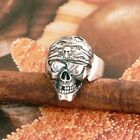 SKULL RING WITH STONEEYE STERLING SILVER SOLID.925 NEW JEWELLERY