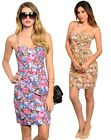 New Women Sexy Casual Evening Party Clubwear Floral Printed Sheath Dress