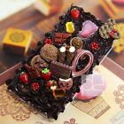 Chocolate Sweets Cute Deco Whip Cream Bling Hard Skin Case Cover For Samsung