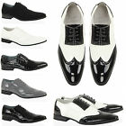 Mens boys casual formal lace smart brogue pointed toe leather insole shoes size